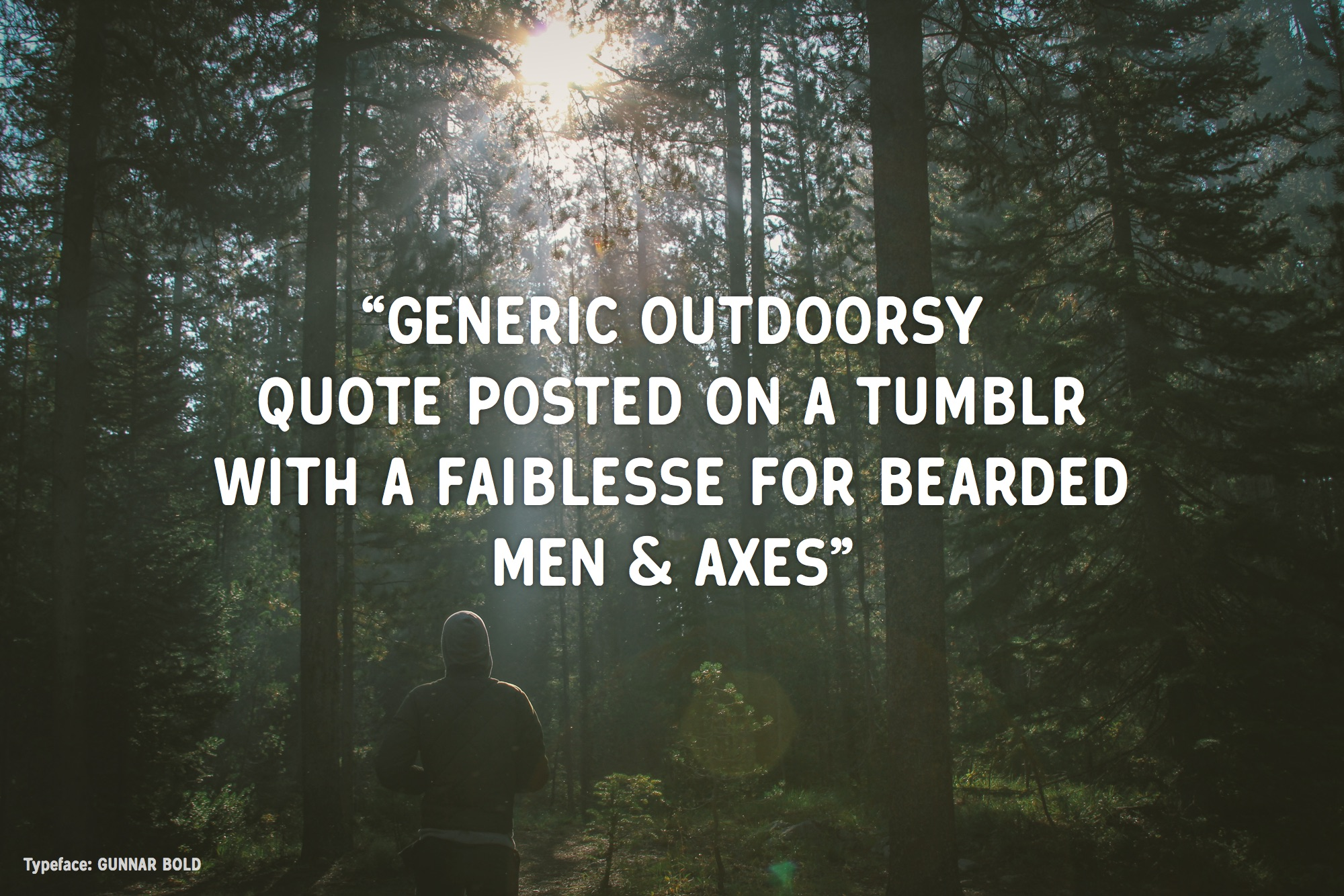 Gunnar Bold - Hipster quote example