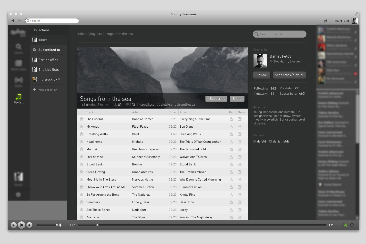 Spotify - Concept for playlists - Feldt nu